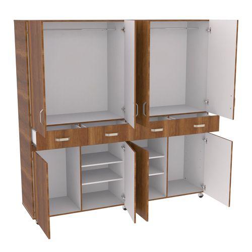 Closet de madera 8 puertas Nova 200